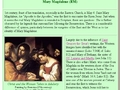 For All the Saints: Mary Magdalene